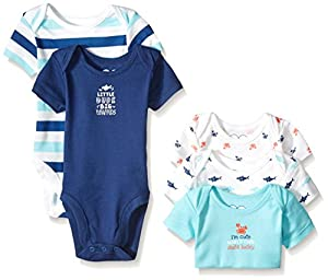 The Children's Place Baby Boys' Sea Animal Bodysuits (Pack of 5)