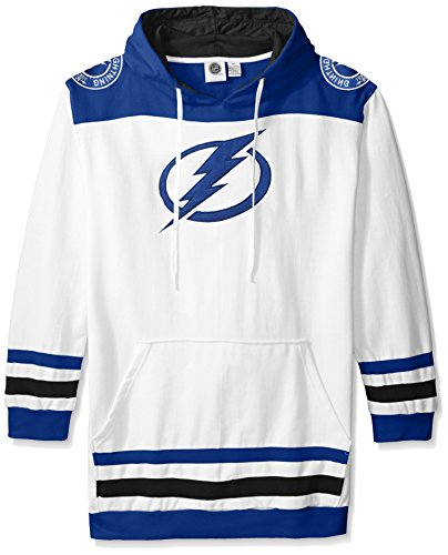 NHL Tampa Bay Lightning Men's Double Minor Fleece Hoodie, 3X, Blue Lightning Fleece Hoodie