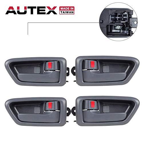 AUTEX 4pcs Gray Interior Door Handles Front Rear Left Right Driver Passenger Side Compatible with Toyota Camry 1997 1998 1999 2000 2001 Door Handles 91002 91006 91003 91007
