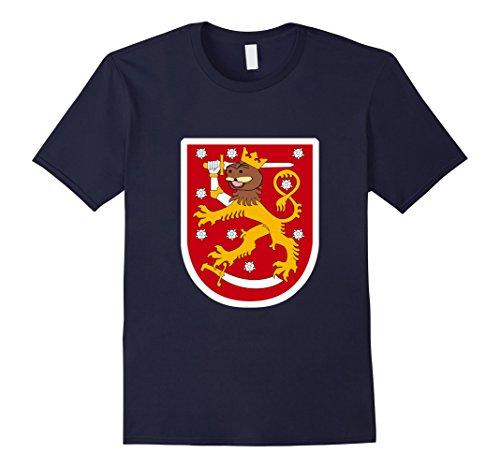 Men's Spurdo Sparde Finnish Bear Meme Coat of Arms T-Shirt Medium Navy (Finnish Coat Arms Of)