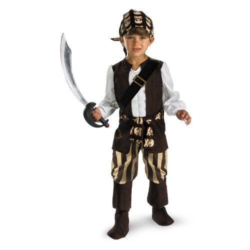 [Rogue Pirate Costume - Medium (3T-4T)] (Couples Scary Costumes)