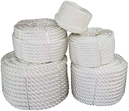 and Heavy Loads Towing Chemical Crafts Dock Lines 10 ft - 1200 ft SGT KNOTS Twisted Nylon Rope Alkali and Weather Resistant 1//4 inch - 2 inch Black or White Multipurpose Utility Line