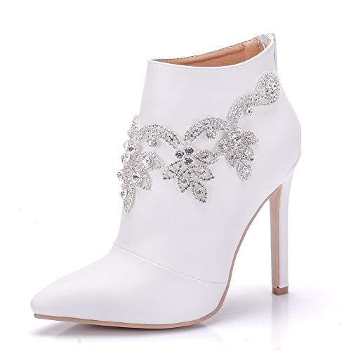 Reißverschluss Frauen Stiefeletten Reitstiefel Frau Hochzeit High Heels Schuhe Schuhe Mode Moojm Party PqwRYY