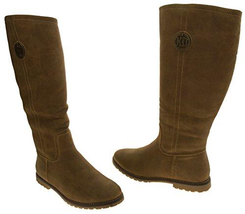 Para mujer Keddo Faux suede caliente invierno rodilla botas altas camello