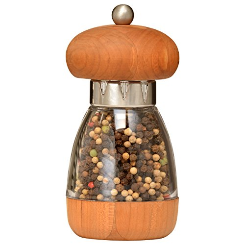 Cherry Wood Pepper Mill - William Bounds 00125 Mushroom Mill - Pepper Grinder - American Cherry Wood and Acrylic
