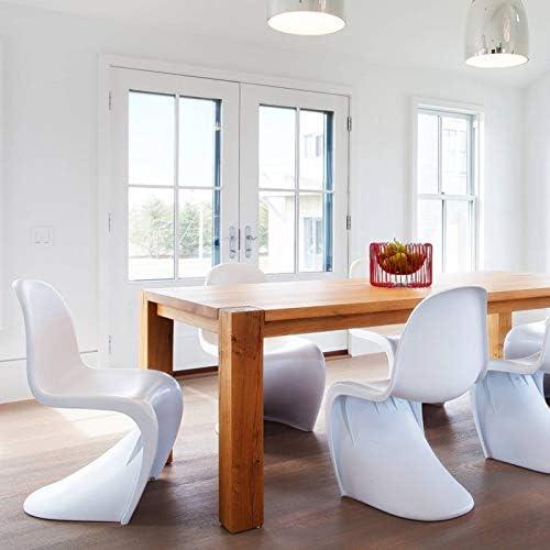 GW Chaise de bureau de formation en plastique PP en forme de S Design hôtel Chaise de réception de salle à manger Simple Chaise Vert