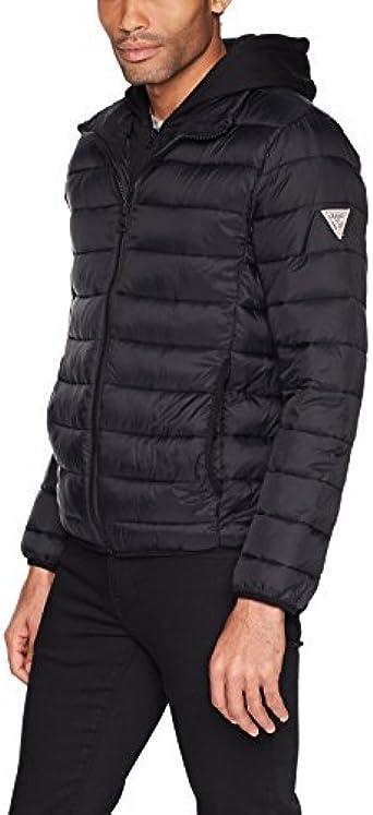 GUESS Men's Hooded Puffer Coat & Reviews Coats & Jackets