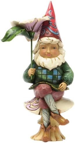 Amazon Com Jim Shore For Enesco Heartwood Creek Gnome On Mushroom Figurine 6 Inch Home Kitchen