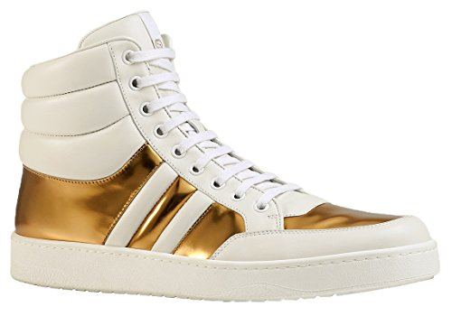 8de109d38085 Gucci Men s White Gold Contrast Padded Leather High Top - Import It All