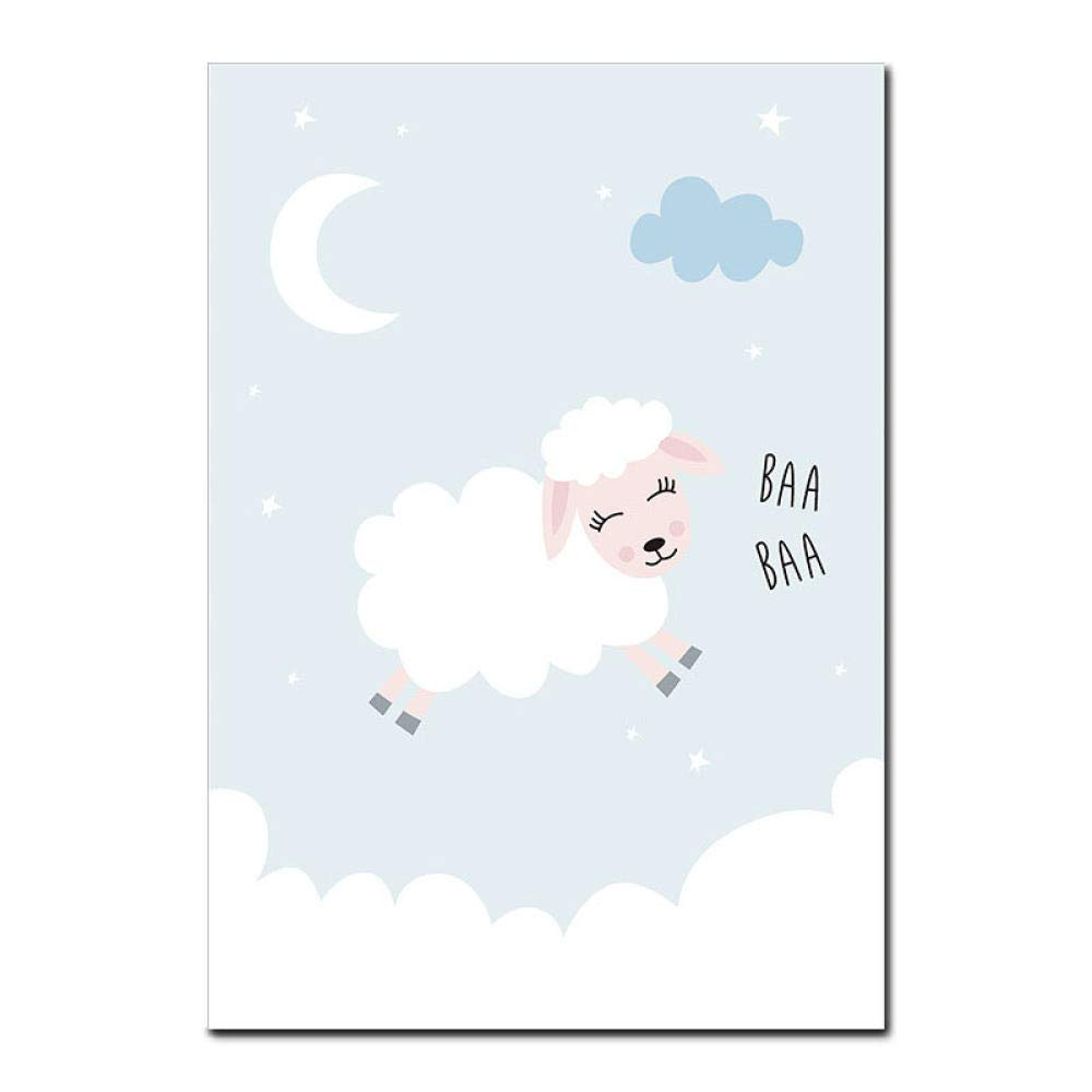 Infantiles Creativo Caricatura P/óSteres Dibujos Beb/é Pared Regalo,Pink,13x18cm sin marco para habitaci/ón de ni/ños LJT Juego de 3 Conejito p/ósteres