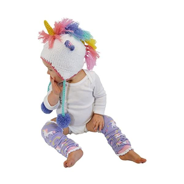 Huggalugs Baby, Toddler and Adult Unicorn Beanie Hat, Legwarmers, Pants 7