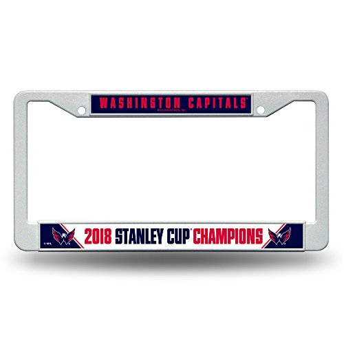 - Rico Washington Capitals Official NHL 2018 National Champions License Plate Frame Plastic 390530