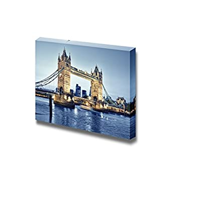 Canvas Prints Wall Art - Tower Bridge at Night Near The River - 12