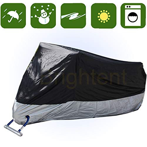 RockyMRanger Breathable Motorcycle Cover Cruisers Touring Bikes Storage ()