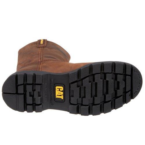 Caterpillar Boot Pull Steel Brown Men's Toe On Revolver rqxrUA