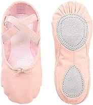 tanzdunsje Ballet Dance Shoes Slipper Canvas Split Leather Sole for Girls Women