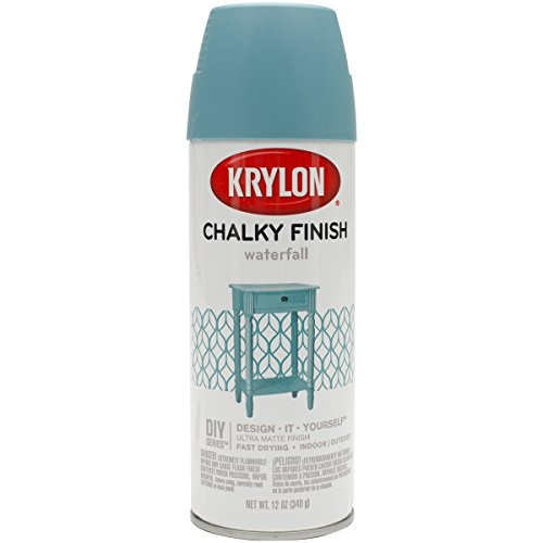 Krylon K04112000 Chalky Finish Spray Paint, Waterfall, 12 Ounce