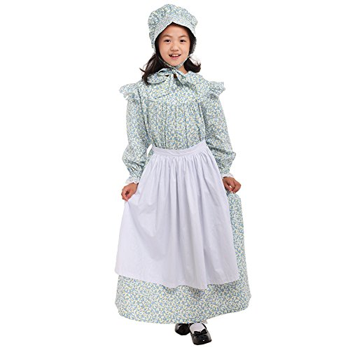 GRACEART Girls' American Pioneer Colonial Costume