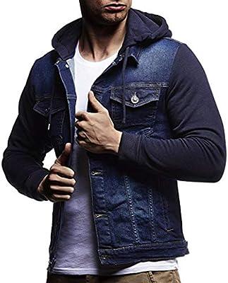 Longra☀☀ 2018 Mens Otoño Invierno con Capucha Vintage Denim Chaqueta de Mezclilla Tops Coat Outwear