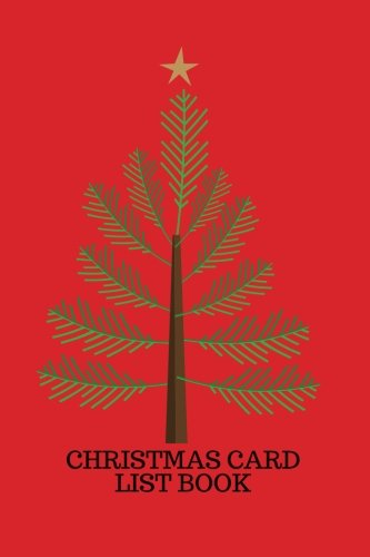 christmas card list book holiday card recorder address book