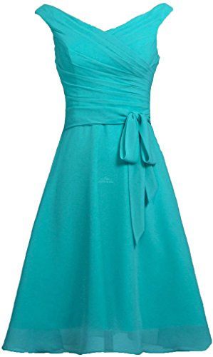 Chiffon V Sash ANTS Prom Women's Neck Jade Tank Short Dresses Bridesmaid with O5xCSqxwE