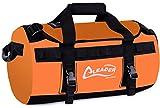 Leader Accessories Deluxe PVC Duffel Bag Backpack Dry Bag(Orange, 70L)
