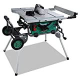 "Hitachi C10RJ 10"" 15-Amp Jobsite Table Saw with 35"" Rip Capacity and Fold"