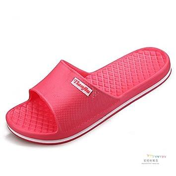 CWJDTXD Zapatillas de verano Hogar y hombres parejas zapatillas de interior baño de verano baño zapatillas de espuma luz hospitalidad casa verano, 37, ...