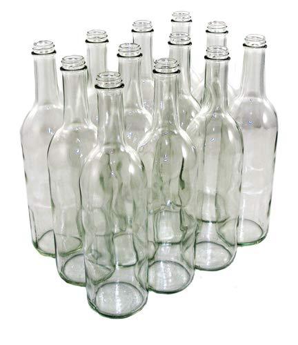 a8d58b7b5f8d Amazon.com: 750 ML Clear Screw Top Bordeaux Wine Bottles (12/Case ...