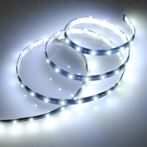 2X bianco 60 SMD LED impermeabile flessibile striscia al neon dell'automobile luce della lampada Furgone Bianco 12V 1.2M Well-Goal