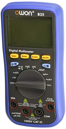 - Owon B35 Digital Multimeter with Temperature Meter, Bluetooth Interface T with True RMS