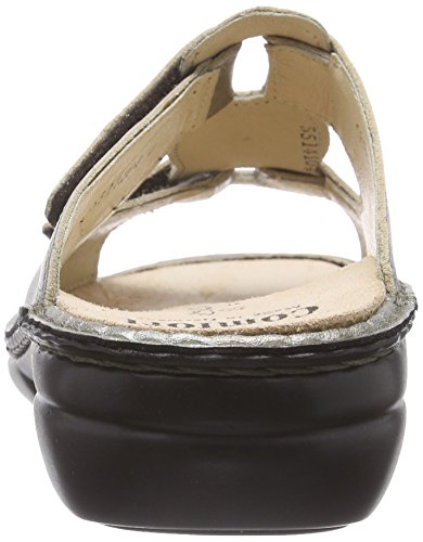 Finn ComfortPattaya - Mules para mujer Plateado (Espresso)