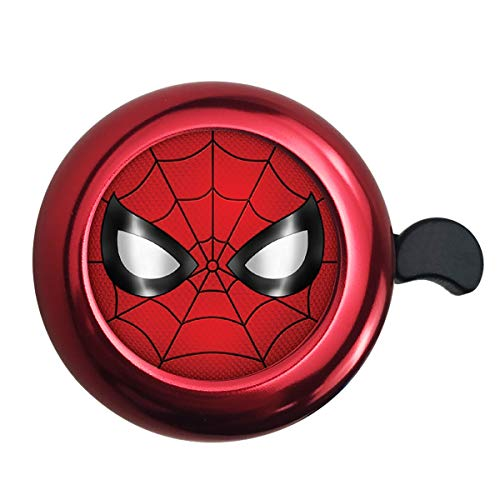 Surmoler Classic Bike Bell Aluminum Loud Sound Bicycle Bell Bike Accessory for Adults Kids,Right Hand - Spider Man