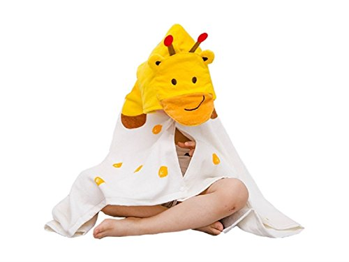 Wesource Activates Baby Cartoon Bee Hooded Bathrobe Cute Animal Bath Towel Cloak for Children (Yellow) by Wesource
