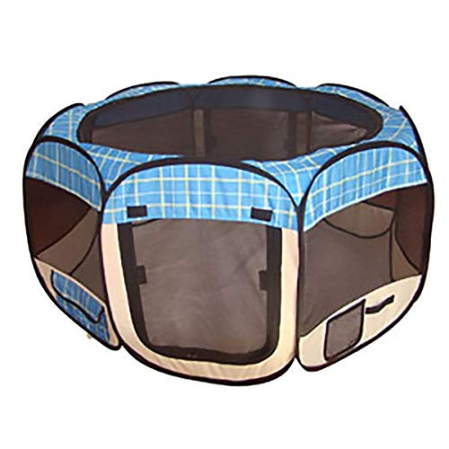 BestPet Blue Grid Pet Tent Exercise Pen Playpen Dog Crate XS Review