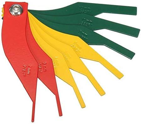 8-in-1 Automotive Brake Pad Feeler Lining Thickness Gauge Measure Ruler Tool