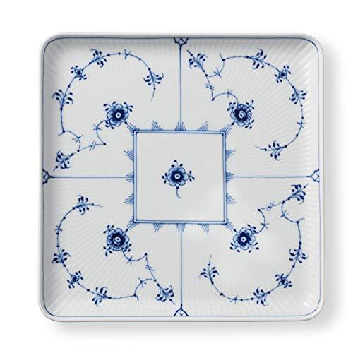 Royal Copenhagen Blue Fluted Plain Square Plate 8