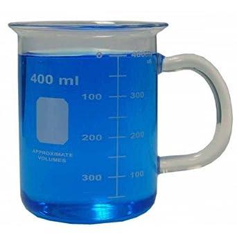 Amazon.com: 400 ml vaso de vidrio de borosilicato con mango ...