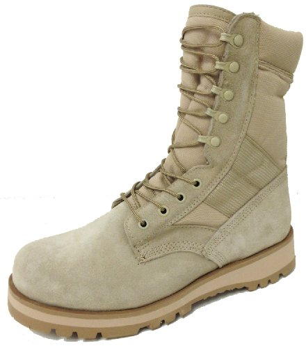 Men's Desert Boots Jungle Tan G.I. Type Speed Lace Tactical Combat Military Work Shoes Sizes