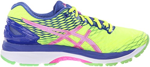 ASICS Damen Gel-Nimbus 18 Laufschuh Flash Gelb / Pink Glow / Asics Blau