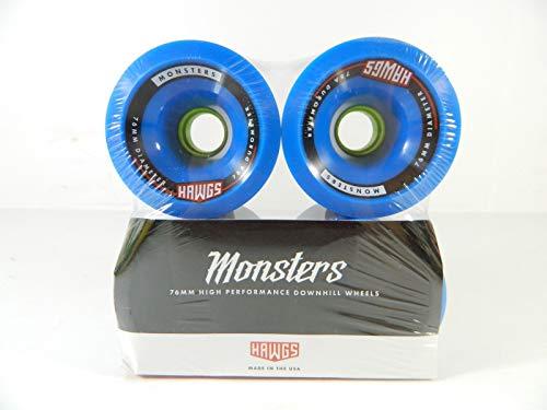 Good Skateboard Monster 76Mm 78A Pro Longboard Wheels Set of 4 Blue