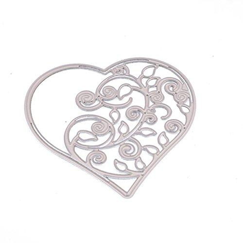 Cicitop Cutting Dies Love Branch Cutting Dies Stencil DIY Scrapbooking Embossing Album Paper Crafts ()