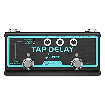Donner Multi Guitar Effect Pedal Tap Delay 3 Delay Modes Analogue, Digital, Reverse from Donner
