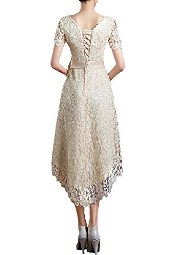 Brautkleid B Kurz Linie Hellgrün Hochzeitskleid Ausschnitt Elegant Bride Satin A Style Gorgeous V Spitze w7zBUBq
