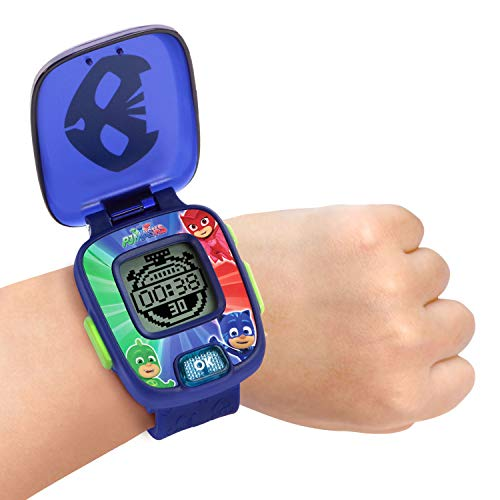 41Sa3o9S3qL - VTech PJ Masks Super Catboy Learning Watch, Blue