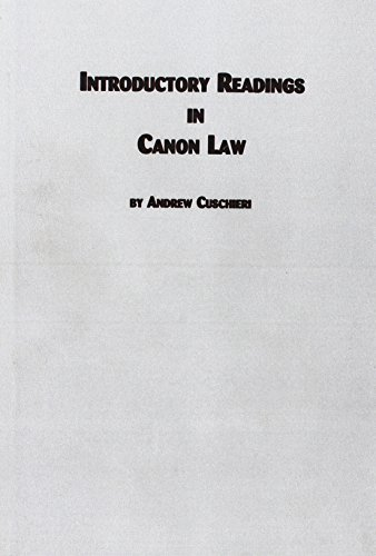 Introductory Readings in Canon Law (Roman Catholic Studies)