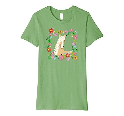 Womens Palomino Horse Shirt Horse Lover Shirt XL Grass