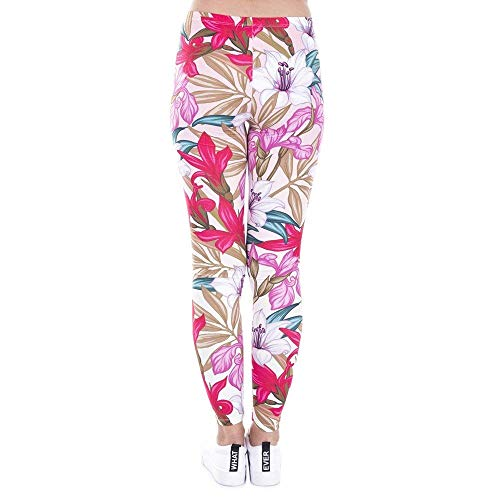 Lga43479 Alta Design Yoga Casual Impreso Mujeres Tee Flores Elástica Legins De Leggings Paradise Leggins Mujer Moda Pantalones Paq0n6