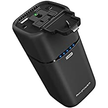 AC Outlet Portable Charger RAVPower 20100mAh 65W(Max.) Built in 2-Prong AC Plug External Battery Pack Travel Charger for MacBook, Surface Pro, Dell XPS 13, iPhone X, Galaxy S9, Note 8 - Updated