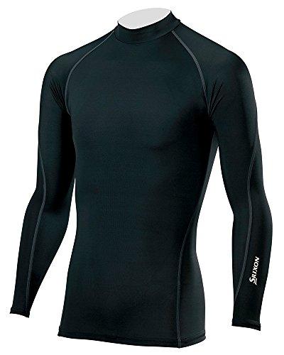 DUNLOP(ダンロップ) SRIXON 長袖ハイネックシャツ メンズ SMA6002 ブラック×チャコールグレー L
